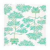 Turquoise Bonsai Pattern Giclee Print