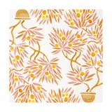 Peach Bonsai Orange Pattern Giclee Print