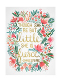 Little Fierce White Giclee Print by Cat Coquillette