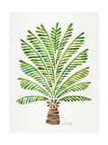Green Palm Tree Impressão giclée por Cat Coquillette