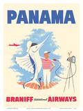 Panama - Braniff International Airways - Big Game Fishing Kunstdrucke von  Pacifica Island Art