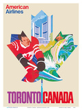 Toronto, Canada - American Airlines Print by  Pacifica Island Art