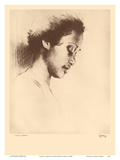 Leilani, Hawaii - from Etchings and Drawings of Hawaiians Stampe di John Melville Kelly