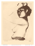 Kanani, Hawaii - Topless Native Girl - from Etchings and Drawings of Hawaiians Stampe di John Melville Kelly