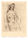 Chinese Hawaiian 1 - Nude Study - from Etchings and Drawings of Hawaiians Poster di John Melville Kelly