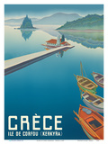Island of Corfu (Kerkyra) - Greece (Gréce) - Vlacherna Monastery - Pontikonisi (Mouse Island) Stampe di  Pacifica Island Art