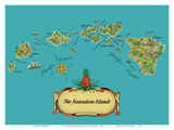 The Hawaiian Islands - from The Story of Pineapple Posters av Stephen J. Voorhies