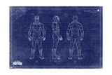 Blueprint Black Panther Kunstdrucke