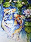 Koi Koi and Lily Kunstdruck von Marcia Baldwin