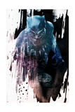 Abstract Black Panther Affiches