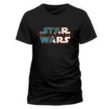 Star Wars: The Last Jedi - Blue Print Logo Mask T-skjorte