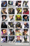 Overwatch - Character Portraits Stampa