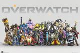 Overwatch - Anniversary Line Up Plakat