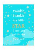 Twinkle Twinkle Premium Giclee-trykk av Bella Dos Santos