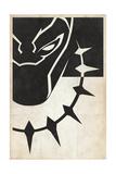 Minimal Black Panther Kunstdrucke