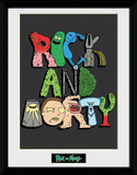 Rick & Morty - Letters Collector Print
