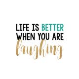 Life Is Better… Premium Giclee-trykk av Bella Dos Santos