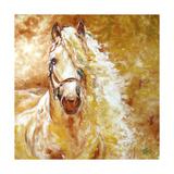 Golden Grace Andalusian Equine Kunst af Marcia Baldwin