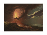 Vesuvius in Eruption, with a View over the Islands in the Bay of Naples Giclee Print by Joseph Wright of Derby