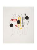 Victory Over the Sun, 6. Sportsmen Giclee-trykk av El Lissitzky