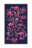 The Walking Dead Map Plakater av Robert Farkas