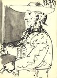 Kinght on a Horse (Detail) Litografia por Pablo Picasso