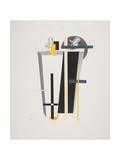 Victory Over the Sun, 9. Gravediggers Giclee-trykk av El Lissitzky
