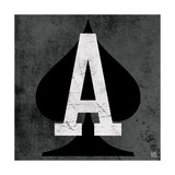 Ace of Spades Gray Premium Giclee Print by Aubree Perrenoud