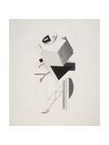 Victory Over the Sun, 3. Sentry Giclee-trykk av El Lissitzky