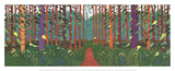 The Arrival of Spring in Woldgate, East Yorkshire Litho van David Hockney