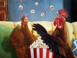 Popcorn Chickens Kunstdrucke von Lucia Heffernan