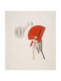 Victory Over the Sun, 2. The Announcer Giclee-trykk av El Lissitzky