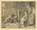 Scene in an Inn Litografia tekijänä Adriaen Brouwer
