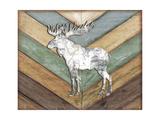 Lodge Moose Premium Giclee Print by Jennifer Pugh