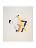 Victory Over the Sun, 8. Old Man (Head 2 Steps behind) Impressão giclée por El Lissitzky