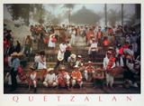 Quetzalan, Mexico Lithografie von Robert van der Hilst