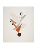 Victory Over the Sun, 5. Globetrotter (in Time) Giclee-trykk av El Lissitzky