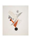 Victory Over the Sun, 5. Globetrotter (in Time) Gicléedruk van El Lissitzky