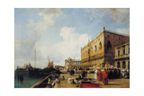 Venice: Ducal Palace with a Religious Procession Giclee Print by Richard Parkes Bonington