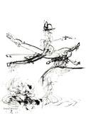 Untitled Composition Litograf af Roberto Matta