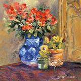 Red Flowers Prints by Allayn Stevens
