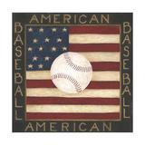 American Baseball Poster van Cindy Shamp