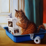 Kitty Throne Print by Lucia Heffernan