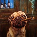 Uptown Pug Art by Lucia Heffernan