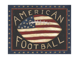 American Football Premium Giclee Print by Cindy Shamp