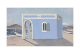 Blue House on the Shore Giclee Print by Paul Nash