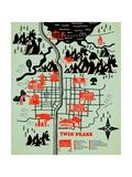 Welcome to Twinpeaks Poster von Robert Farkas
