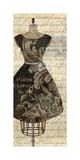 Newsprint Dior III Giclee Print by Suzanne Nicoll