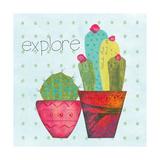 Southwest Cactus I Póster por Courtney Prahl