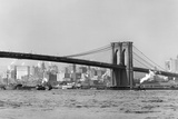The Brooklyn Bridge Spans the East River, Ca. 1910. Photographic Print by Kirn Vintage Stock